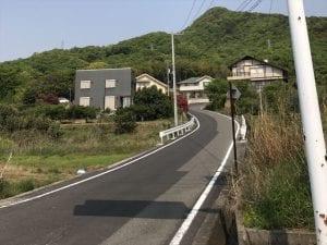西村農免道路の入り口
