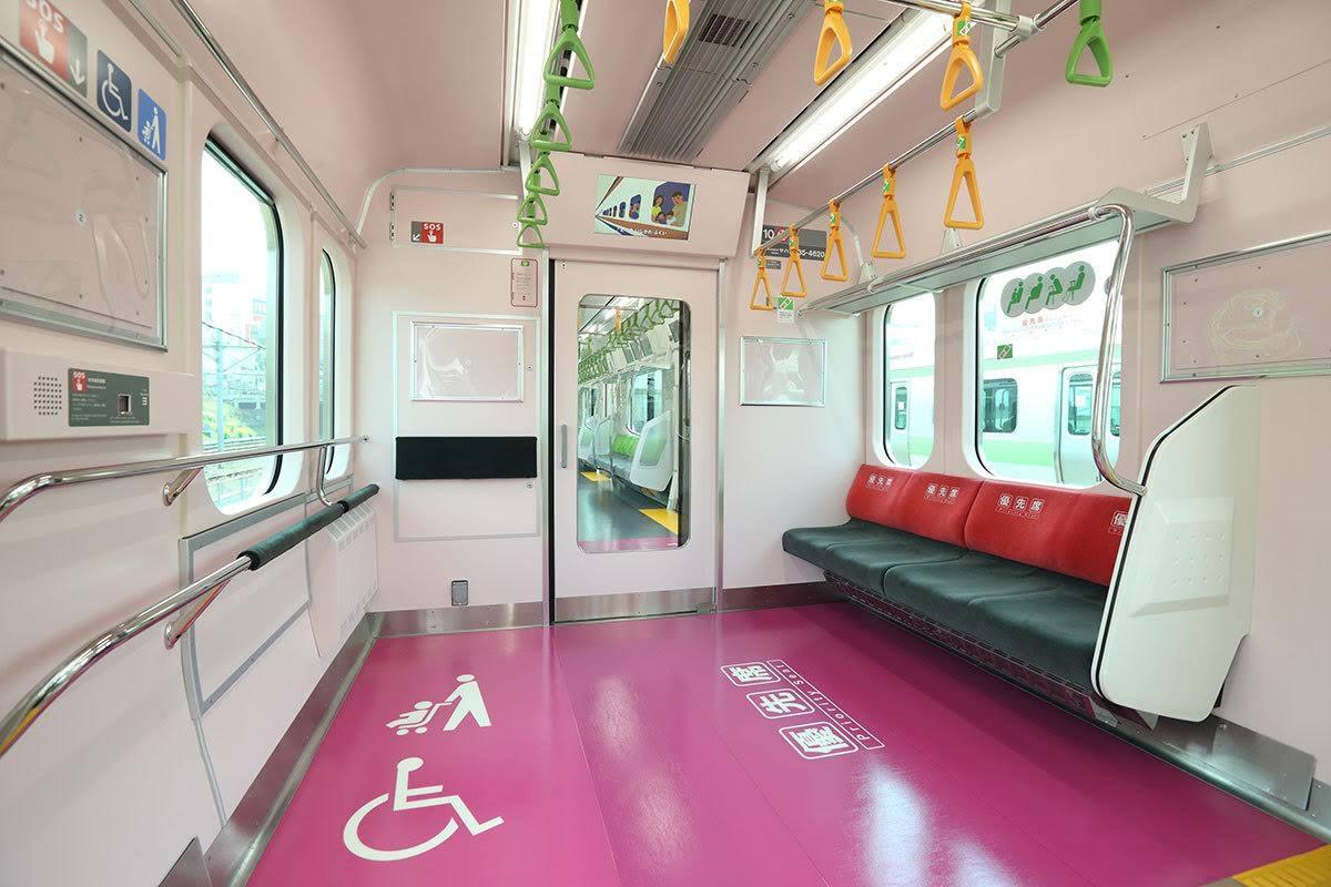 JR山手線の新型車両E235系1号車と11号車の「フリースペース」と呼ばれる空間