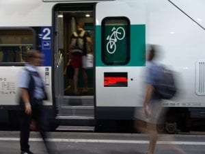 スイス・チューリッヒの自転車が載せられる車両