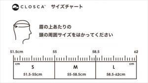サイズチャート(頭の周囲サイズ)