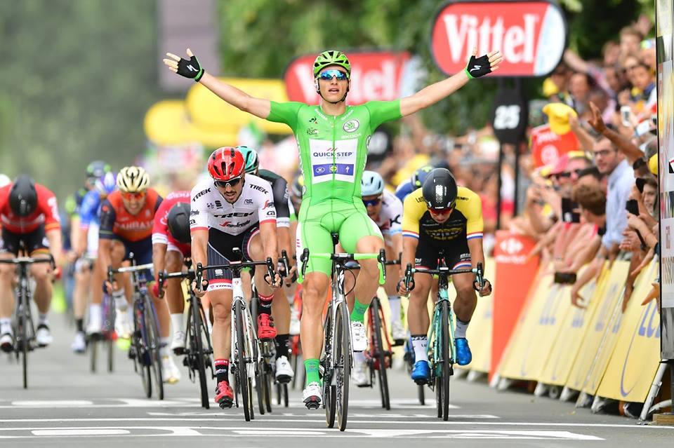 第10、第11ステージを連覇し、今大会のステージ優勝数を5に伸ばしたマルセル・キッテル(ドイツ、クイックステップフロアーズ) ©A.S.O.