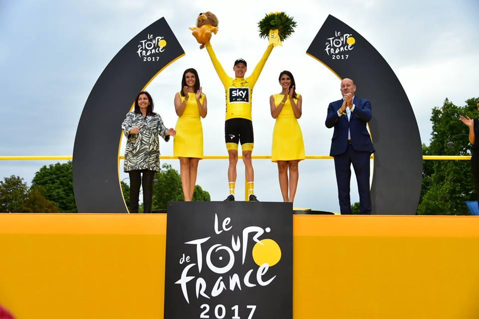 2013、2015、2016年に続いて、ツール・ド・フランスで3年連続4勝目を挙げたクリス・フルーム(イギリス、チームスカイ) ©A.S.O.