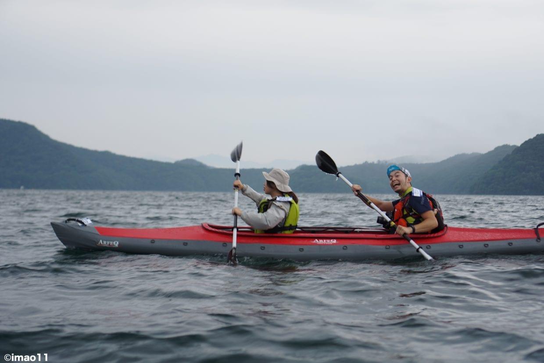 第1ステージ(野尻湖3km)カヤックに挑戦!