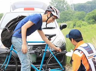 自転車ロードサービス利用イメージ