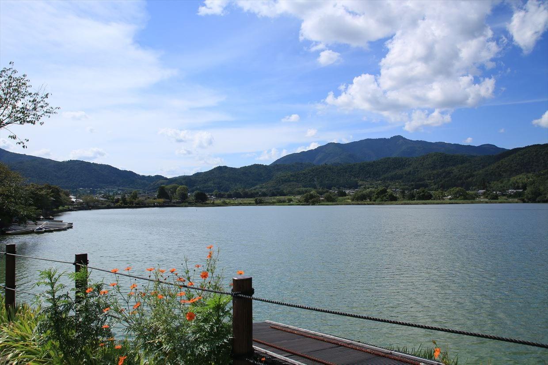 日本三沢にも選ばれている広沢池(ひろさわのいけ)は灯篭流しでも有名