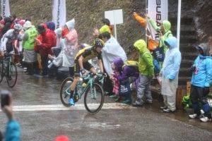6週目の山岳ポイントを取ったチーム・ロットNL・ユンボのアントワン・トールク選手