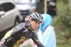 カメラに手を振ってくれた那須ブラーゼンの柴田雅之選手