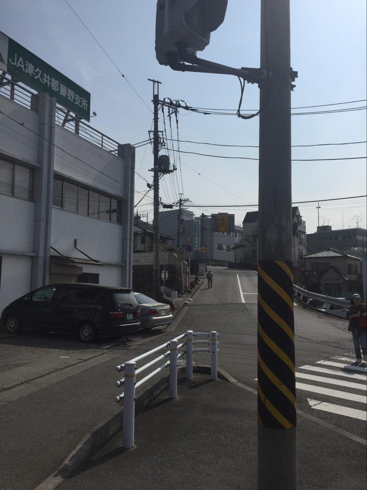 藤野駅そばからR522に入る