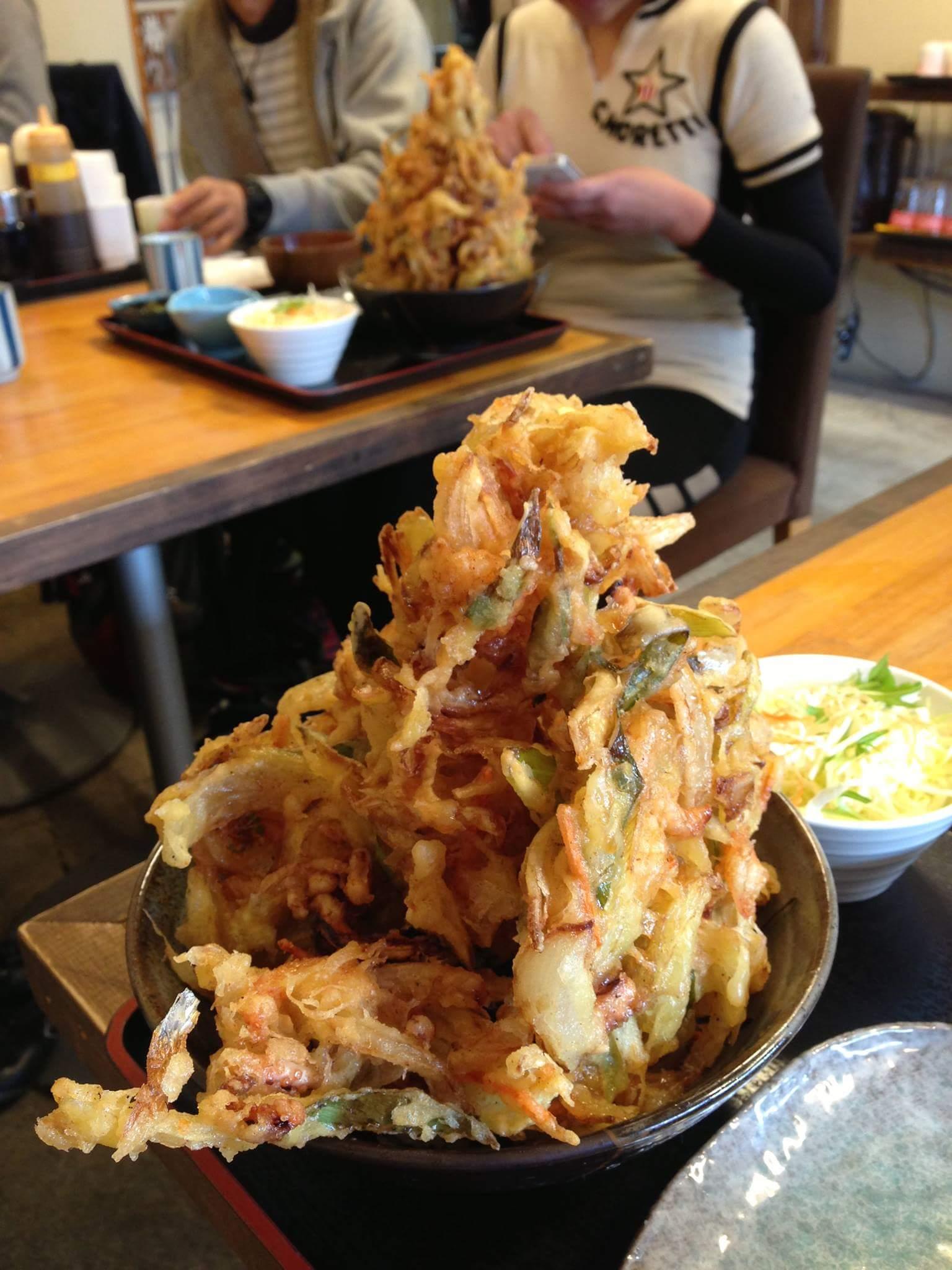 めしやっちゃん「かきあげ丼特盛り(テラ盛り)」