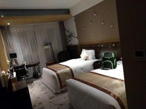 最初に泊まった高級ホテル。モダンな内装