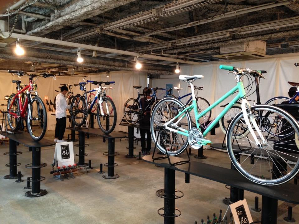 東京サイクルデザイン学校のリユース自転車