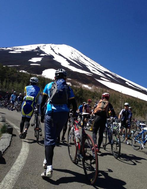 ヒルクライム後に見る富士山の勇姿