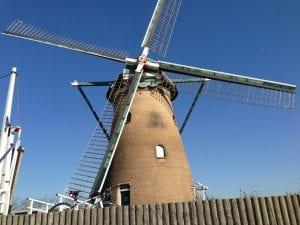 佐倉ふるさと広場のオランダ風車。