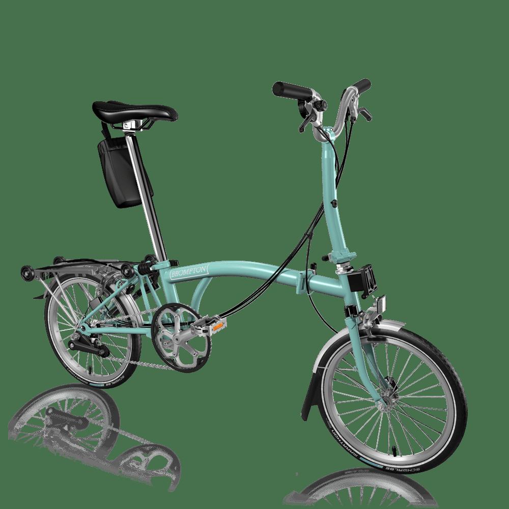 同じバイクビルダーで作ってみた、著者所有のうちの1台。ペパーミントグリーンのMタイプで3速。泥除け、リアキャリアでちょっと重たい(12.6kg)が実用性が高くてとても気に入っている。