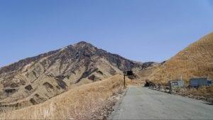 阿蘇パノラマラインを南側から上ったときに見える、烏帽子岳。