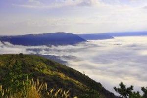 大観峰の雲海。