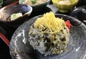 高菜めし定食(1380円)