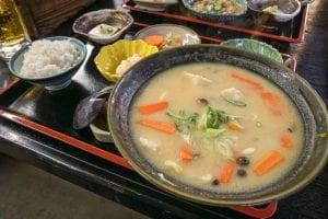 だご汁定食(1180円)