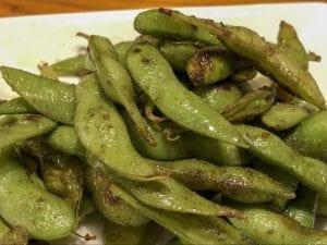 枝豆のオリーブオイル焼き(580円)