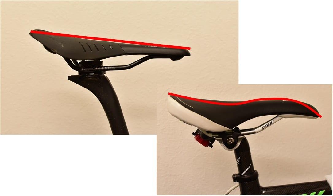 ロードバイク サドル 座面 反り 比較 違い フラット