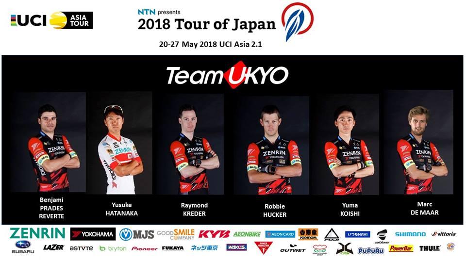 チーム右京の出場メンバー。3連覇のかかっていたオスカル・プジョル(スペイン)は不出場。日本のファンとしては、現日本チャンピオンである畑中勇介の活躍に期待したい (C)チーム右京