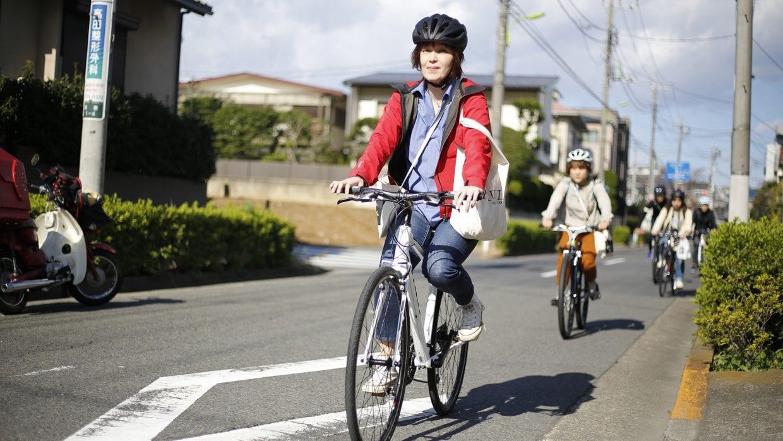 ポタリング 自転車 散歩 イメージ