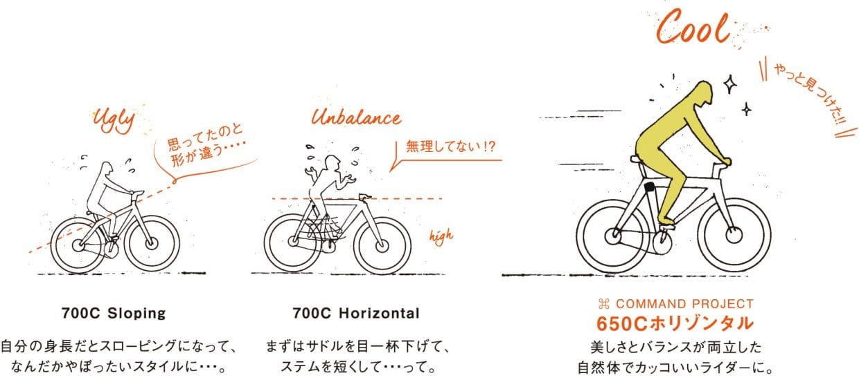 tern クロスバイク 700C 650C サイズ