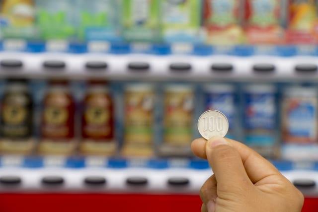 自販機 小銭 自動販売機 コイン サイクリング