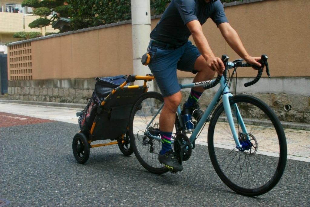サイクルトレーラー トラボーイ ロードバイク 漕ぎだし