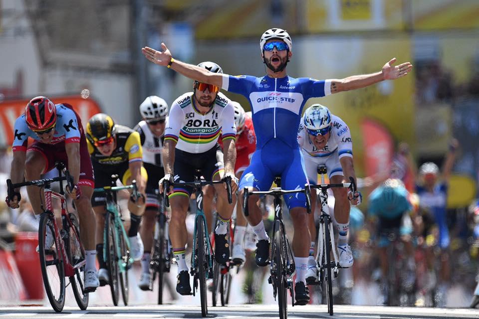 第1、第4ステージを制したフェルナンド・ガビリア(コロンビア、クイックステップフロアーズ)2018 ツールドフランス