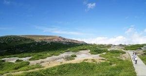 火山湖「お釜」
