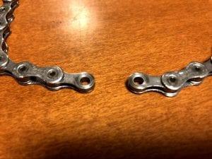 チェーンの両端はインナーリンクプレートになるように切断する。