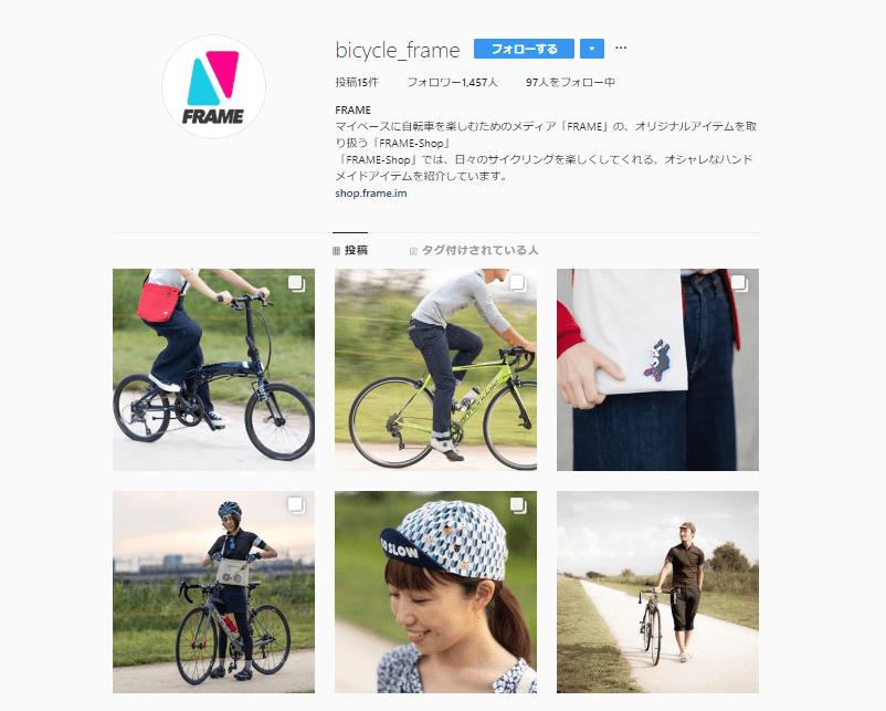 FRAME 公式Instagramアカウント