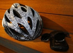 ヘルメットもアートの題材になるんです。