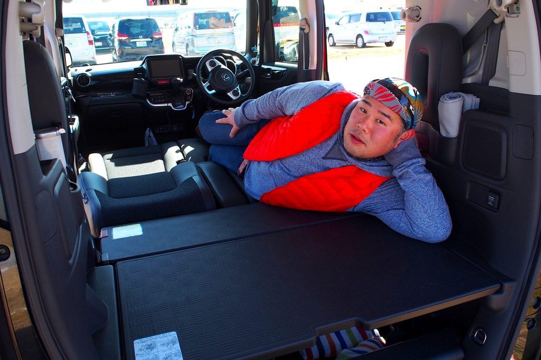 車中泊とHONDA N-BOX+ customとロードバイク
