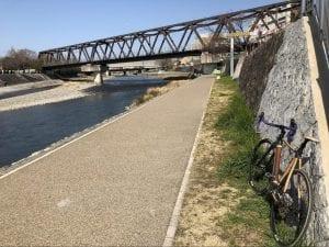竹弓ロードバイク at 鴨川 その1 photo by あっちゃん