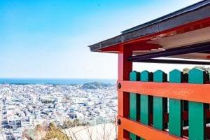 頂上からは新宮市内を一望できます。