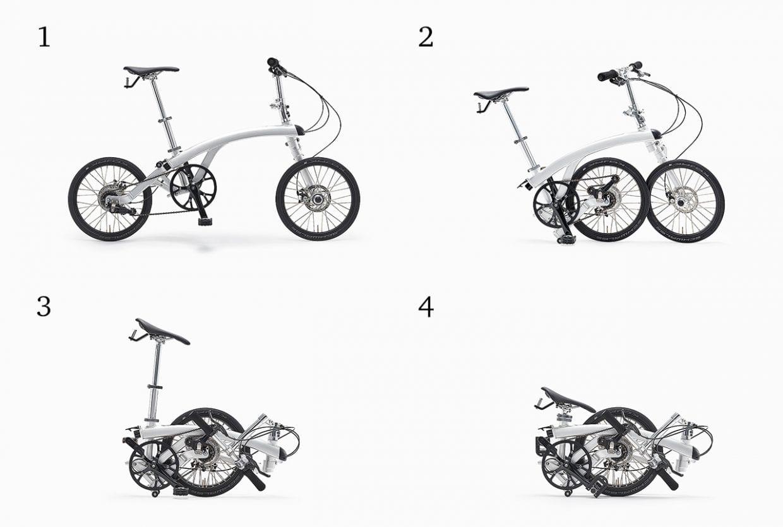 4つの形態へとトランスフォームしながら、どんどんコンパクトになっていく
