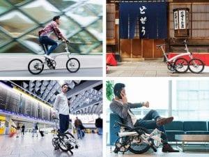 4形態にトランスフォームする折りたたみ自転車