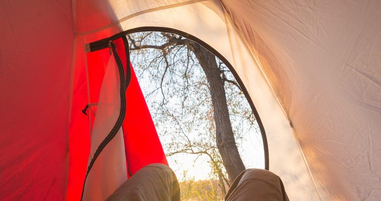 テント 朝日 まぶしい