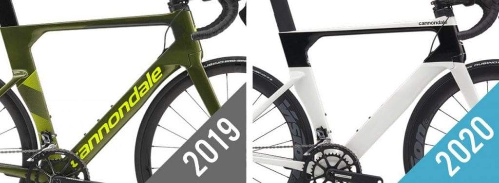 エアロロードバイク「SYSTEMSIX CARBON ULTEGRA」。左が2019年モデル、右が2020年モデル。