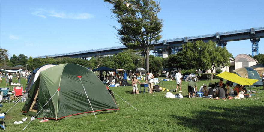 若洲公園キャンプ場(江東区)