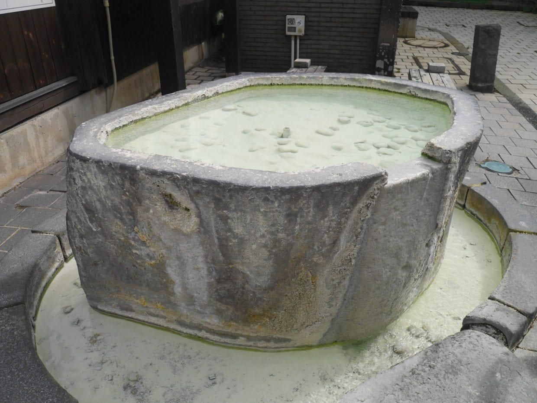 下湯共同浴場の足湯・手湯
