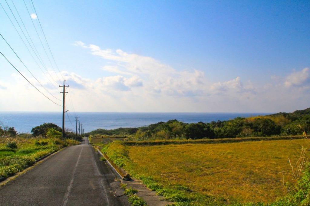 島内の道路はよく整備されていてこれが走りやすい!photo:神楽坂つむり