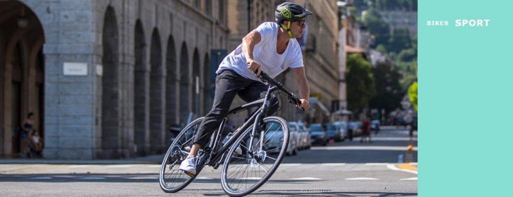 ビアンキのクロスバイクは、プロレースに投入されるロードバイク・MTB作りから得た技術をハイブリッドしたモデルで、それらを「SPORT」カテゴリーのもと展開している。