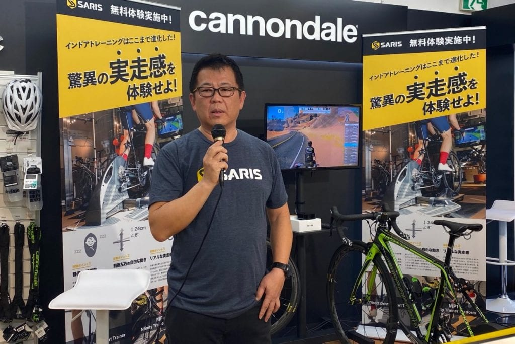 株式会社 ワイ・インターナショナル 代表取締役社長 鳥居 恵一郎さん。バーチャルライドの可能性を強く感じておられるようだ。