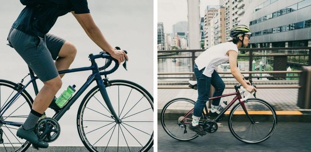 アクティブラインに採用されている「フェードスタイル」は、アスファルトに囲まれた都会と自然を感じる郊外とをシームレスに行き来するサイクリストを表現している。