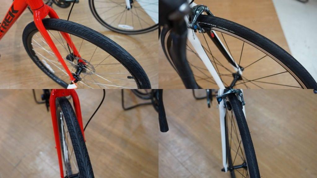 (左)クロスバイク (右)ロードバイク