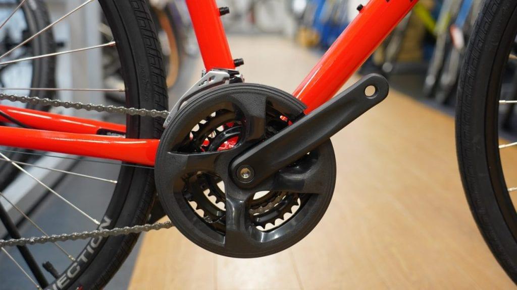 クロスバイクのギア歯数は48-28T