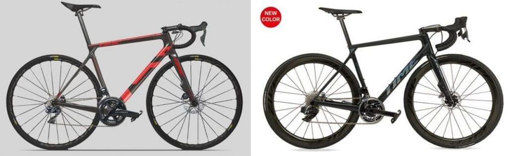 左)2019年モデル、右)2020年モデルのALPE D'HUEZ01。あなたはどちらが好み?